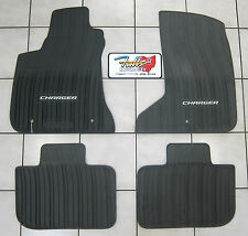 2011-2015 Dodge Charger AWD All Weather Black Rubber Slush Floor Mats Mopar OEM