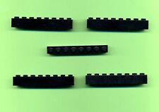Lego--3008---1 x 8-- Schwarz --Basic--5 Stück--