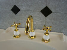 Manor House Dorf  Gold-white. Basin set. Excellent quality Brand New Solid Brass