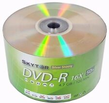 1000 Blank SKYTOR DVD-R DVDR 16X Silver Shiny Top 4.7GB Recordable Media Disc