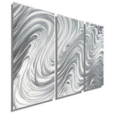 Contemporary Metal Wall Art Decor, Silver Abstract Wall Sculpture - Jon Allen