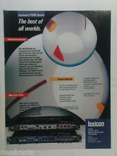 retro magazine advert 1984 LEXICON PCM