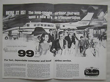 6/1967 PUB BEECH AIRCRAFT BEECHCRAFT 99 AIRLINER AVION FLUGZEUG ORIGINAL AD