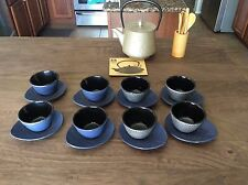 TEAVANA CAST IRON AND ENAMEL TEA POT SET with STAINLESS STEEL INFUSER 18pc. Set
