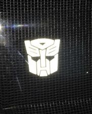2 x Transformers Autobot Car Vinyl Stickers Graphic Decal In Reflective White