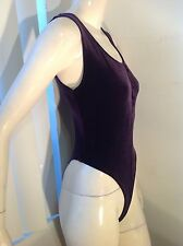 Women Bodysuit,Mitra Modelle,USA S.Small Dark Purple,2 Snap On Crotch,Soft&Sexy