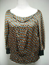 See by Chloe Silk Multi Color Print Blouse 6, 38