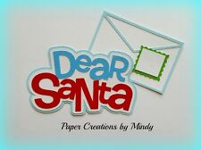 Craftecafe Mindy Christmas Dear Santa Title premade paper piecing scrapbook page