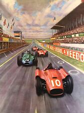 RACE CAR RACING AUTOMOBILE TRACK PAINTING ART POSTER PRINT LV3813