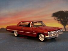 1963 63 CHEVY IMPALA COLLECTIBLE DIECAST DIORAMA MODEL 1/64 SCALE