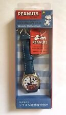 CITIZEN Q & Q AA95-9853 PEANUTS SNOOPY Analog 3BAR Blue Ladies Watch Japan F/S