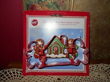 Wilton Metal CHRISTMAS Cookie Cutter Set GINGERBREAD Boys Trio Holiday House New