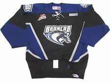 SWIFT CURRENT BRONCOS AUTHENTIC WHL BLACK PRO CCM HOCKEY JERSEY SIZE 54