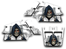 YAMAHA BANSHEE GRAPHICS DECAL KIT GRIM REAPER REVENGE STICKER WRAP SHROUDS WHITE
