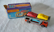 Matchbox  Superfast-  MB 11 Car Transporter- graue Rampe - Made in England  OVP