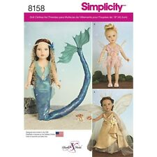 SEWING PATTERN! MAKE DOLL CLOTHES~COSTUMES! FITS AMERICAN GIRL! MERMAID~FAIRY!
