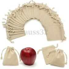 30pcs Xmas Burlap Natural Linen Jute Sack Jewelry Pouch Drawstring Gift Bags
