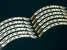 REFLECTIVE WHITE! MAVIC COSMIC CARBONE SL OR SLR REPLACEMENT RIM DECAL SET