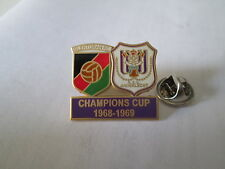a2 ANDERLECHT - GLENTORAN cup uefa champions league 1969 football pins