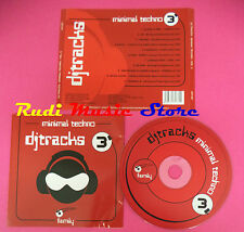 CD DJ TRACKS 3 MINIMAL TECHNO compilation no mc dvd vhs(C34)