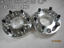 "2 QTY 1.5"" 6550-6135 6x5.5-6x135 (6X139.7) Wheel Spacer Adapters CB78.1mm 14X2"