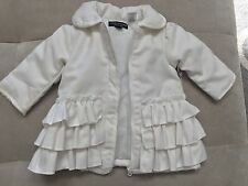 New Baby Girl Wendy Belissimo White Jacket Coat Size 6 Month With Ruffles