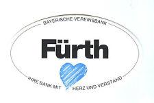 """Aufkleber """" Fürth """"     Stadt Fürth Mittelfranken in Bayern"""