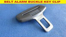 VOLVO GREY SEAT BELT ALARM BUCKLE KEY CLIP SAFETY CLASP STOP *UK SELLER*