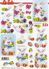 3D Motivbogen Etappenbogen Bastelbogen Ostern Osterhase Hase (137) Schneidebogen