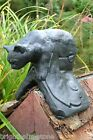 BLACK CAT ROOF FINIAL HALF ROUND OR ANGLED RIDGE TILE frost proof stone ORNAMENT