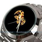 New Black Skeleton Mens Fashion Automatic Mechanical Steel Band Analog Watch