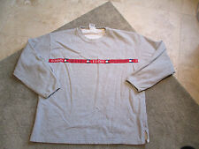 VINTAGE Tommy Hilfiger Sweater Adult Extra Large Gray Crewneck Spell Out 90s