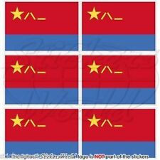 """CHINA Chinese AirForce PLAAF Flag Mobile Cell Phone Mini Decals Stickers 1.6"""" x6"""