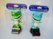 Lots 2 solar Powered Flip Flap Dancing SHARK Dancing Bobble Head Solar Shark Toy