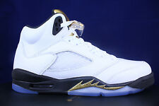NIKE AIR JORDAN 5 RETRO GS BG V OLYMPIC METALLIC GOLD COIN 440888 133 SZ 5 Y