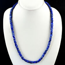 195.00 CTS NATURAL UNTREATED RICH BLUE LAPIS LAZULI BEADS NECKLACE - BIG DEAL