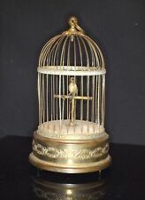 ANTIQUE LARGE FRENCH MECHANICAL AUTOMATION SINGING BIRD MUSIC BOX