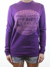 JACK WILLS violet ras du cou doux imprimé sweat taille xs uk 8 - 10