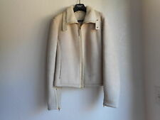 GUCCI Real Shearling Beige Coat Jacket Size 46 Made in Italy