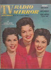TV Radio Mirror August 1955 McGuire Sisters Betty Clooney Flora Campbell