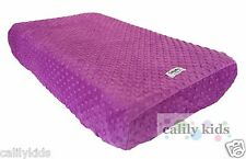 Baby Toddler Change Mat Cover - Super soft PURPLE Minky Dot