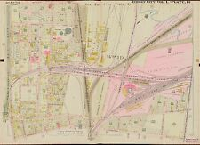 1908 JERSEY CITY, HUDSON COUNTY, NEW JERSEY, ST. PETER'S CEMETERY COPY ATLAS MAP