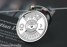 Perpetual Calendar Keyring NEW 50 Years Metal Key Chain Ring Years 2007-2056