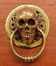 Bronze Skull Copperish Plated Door Kocker Statue Figure All  Metal