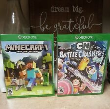 NEW Minecraft and Cartoon Network Battle Crashers GAME Lot Microsoft Xbox One