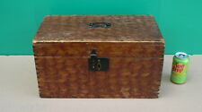 1800s  Antique NORWEGIAN Okra Paint Sponge Decorated Document Box