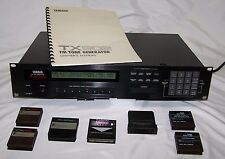 Yamaha TX802 FM Tone Generator with 1 CARD ADAPTOR and 6 CARTRIDGES & Manual
