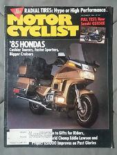 1984 DECEMBER MOTOR CYCLIST MAGAZINE GOLD WING BMW KAWASAKI SUZUKI HONDA YAMAHA