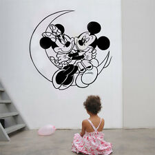BIG Mickey Minnie Mouse Moon Kids Disney Wall Stickers room Removable Decals DIY