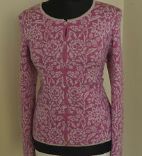 Oleana the Norwegian Story Pink silk & wool cardigan sweater Size S.M